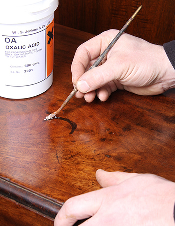 antique furniture stain removal